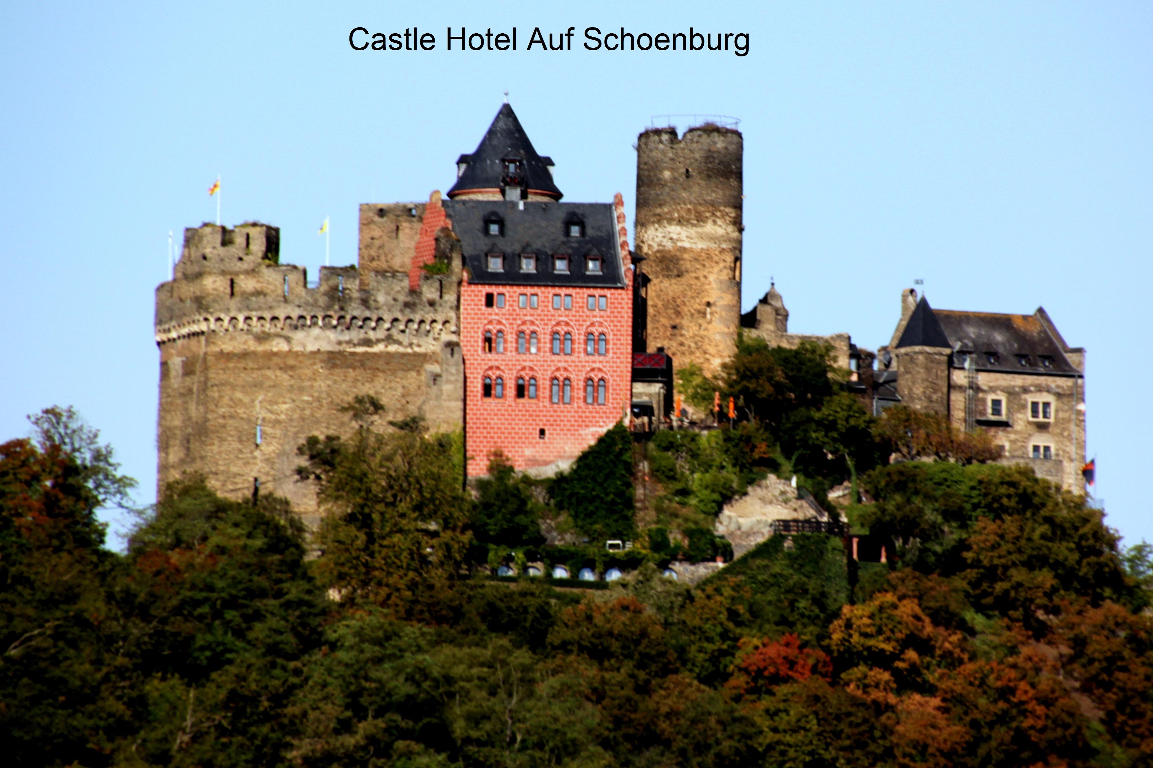 Castles along the Rhine River Gorge Click here for more pictures.